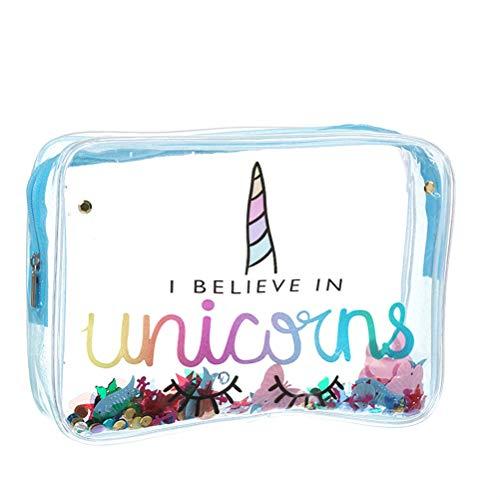 Faviye Unicorn Makeup Bag Cartoon PVC Transparent