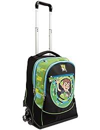 Auguri Preziosi Preziosi - Ben 10 Zaino Trolley 3 Ruote Con Gadget Incluso Equipaje infantil,  Negro (Nero)