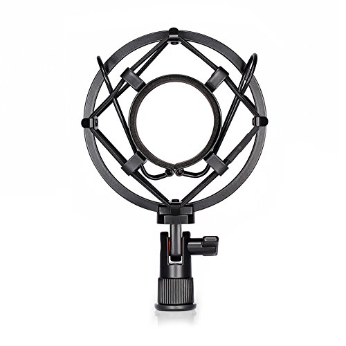 neewerr-support-clip-fixation-anti-choc-microphone-universel-noir-anti-vibration-suspension-isolatio