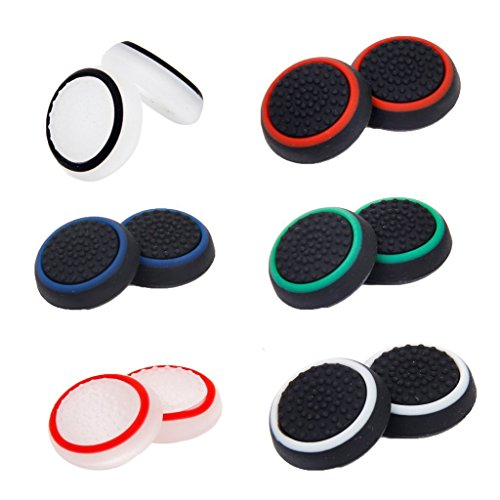 Microware 6 Pairs Replacement Controller Joystick Thumbstick Cover Caps Grips for PS4
