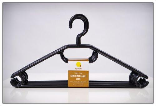 Kleiderbgel-20er-Pack-in-schwarz-extra-schwere-Qualitt-45g-pro-Bgel-mit-Anti-Rutsch-Rillen-und-Krawatten-bzw-Grtelhalter