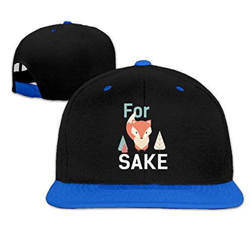 for Sake Hip Hop Snapback Baseball Cap Adjustable Unisex Blue -