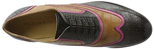 Melvin & Hamilton Sally, Chaussures à Lacets Femme, 38 EU Multicolore - Mehrfarbig (Croco Venice Dk.Grey/Venice FUXIA/big Croco Tortora/hRS)