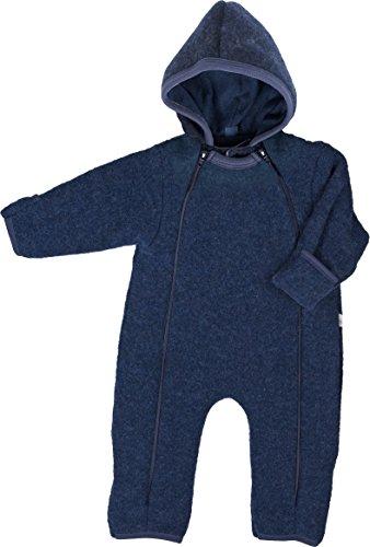iobio Babyoverall Wollvlies GOTS dunkelblau (50/56)