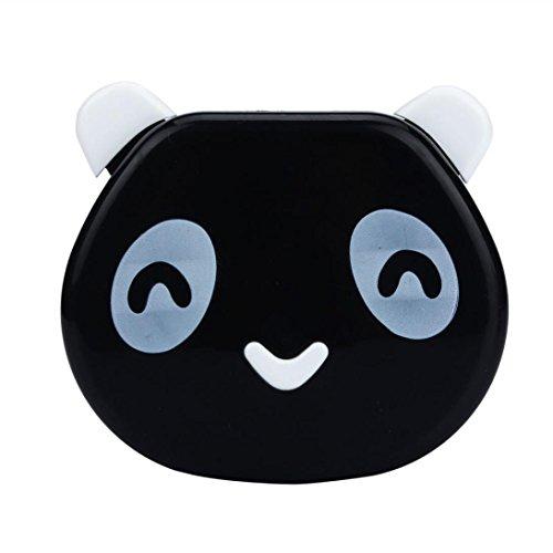 Webla Karikatur-Panda-Süßigkeit-Farben-Kontakt-Objektiv-Kasten-Fall für Augen-Sorgfalt-Installationssatz(Freies Verschiffen) (Kontakt Objektiv Schwarz)