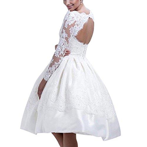 YSTWLKJ Damen Prinzess Stil Skaterkleid Weiß Ballkleid Swing Kleider Blumenmuster Cocktailkleid...