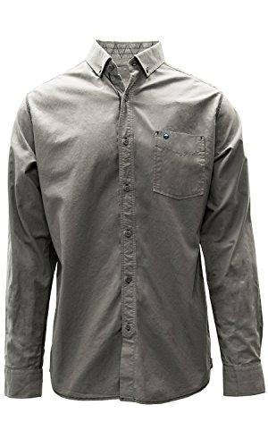 Preisvergleich Produktbild Levelwear LEY9R Brunnen Woven Manschette Button-Down Shirt,  Herren,  Fountain Woven Cuff Button Down Shirt,  Pebble,  Medium