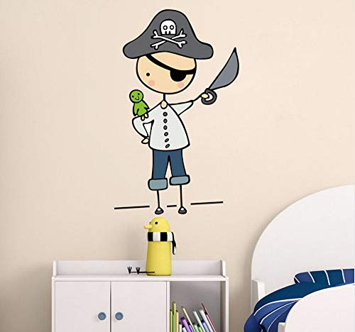 (Hanjiming Cartoon Pirate Mateys Color Wall Stickers For Kids Rooms Nursery Removable Wallpaper Posters Bedroom Wall Art Decals Home Decor)