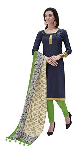 Vansika Sarees Women's Cotton Silk Unstitched Dress Material (Purple)