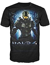 Halo 4 -M- Black Master Chief Logo T-shirt