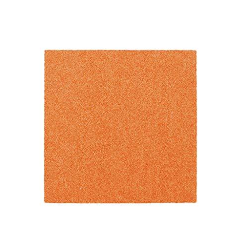 Liangzishop-Bodenschutzmatte Kann gespleißt Werden Teppich Wohnzimmer Schlafzimmer bodenmatte büro tagungsraum Teppich ohne kleber 50 * 50 cm (Color : Orange, Größe : A)