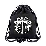 Yovvin BTS Sportbeutel, Kpop Bangtan Jungen Turnbeutel Rucksack Gymsack Hochwertiger Unisex Hipster Strandbeutel Jutebeutel aus Leinwand für Sports & Outdoor (Style 26)
