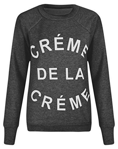 Fashion 4 Less - Sweat-shirt - Pull - Femme Charbon