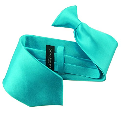 sendmart-corbata-para-hombre-turquesa-kingfisher-blue-adulto
