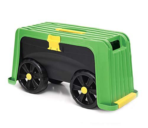 UPP Rollsitz 4 in1 | Gartentrolley | Gartenwagen | Transportwagen | Gartensitz | Sitzbank | Werkzeugwagen | rollbarer Gartenhocker | 100 kg max. Belastbarkeit | multifunktional