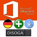 Microsoft Office 2016 Professional Plus 32/64Bit DISOGA® USB-Stick inkl. Lizenzkey