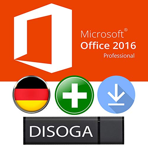 MS Office Professional Plus 2016 Lizenzschlüssel und DISOGA® USB-Sticks (Microsoft Project 2010 Software)