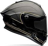 Bell 7069592 Racestar Motorradhelm Speed Check, Schwarz Matt/Gold, M
