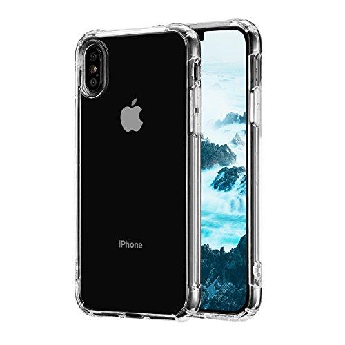Custodia per iphone x, custodia protettiva trasparente silicone tpu, ultra sottile e morbida, anti-caduta e antipolvere per iphone x