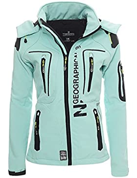 Geographical Norway Mujer Outdoor Softshell Chaqueta tassion Capucha Desmontable