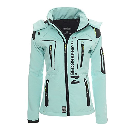 Geographical Norway Tislande Damen Softshell Jacke Aqua Gr. M