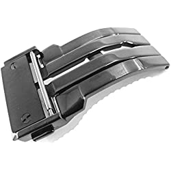 JRRS7777 24mm Stainless Steel Butterfly Deployment Watch Strap Titanium Buckle Wristband Parts Fit HUBLOT