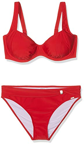 Schiesser Damen Bügel Tai Bikini-Set, (Rot 500), 42 (Herstellergröße: 042D)