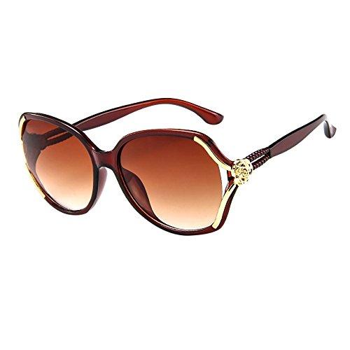 Battnot☀ Sonnenbrille für Damen, Unisex Verspiegelten Oversized Übergroße Rose Frame Vintage Mode Anti-UV Gläser Sonnenbrillen Schutzbrillen Frauen Retro Billig Sunglasses Women Eyewear Eyeglasses