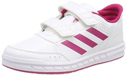adidas Unisex-Kinder AltaSport Cloudfoam Gymnastikschuhe, Elfenbein (Ftwr White/Bold Pink/Ftwr White), 29 EU (Tennis Jungen Kinder Schuhe)