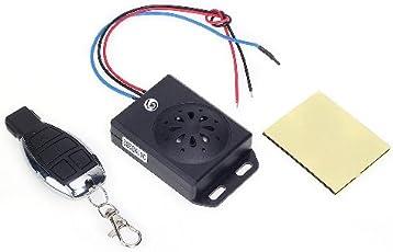 Universal Motorrad Alarm System Alarmanlage mit Fernbedienung DC 12V schwarz