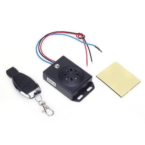 zimo Universal Motorrad Alarm System Alarmanlage mit Fernbedienung DC 12V schwarz