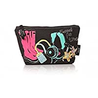 Casey Rogers Urban Junkie Wellies Large Make up travel Bag Festival Fun Times