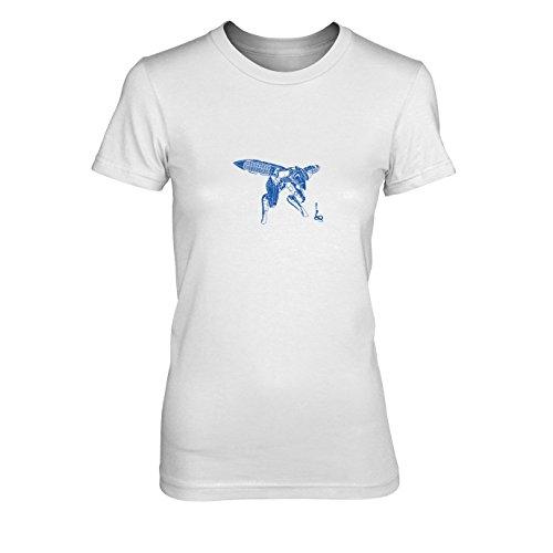Metal Gear Ray - Damen T-Shirt, Größe: XL, Farbe: weiß
