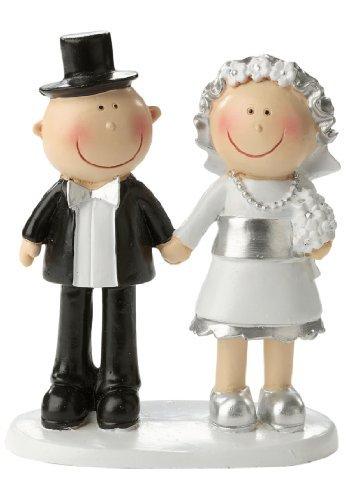 Silberne Hochzeit * Silberpaar * Tortendekoration * Tortenfigur * Tischdekoration