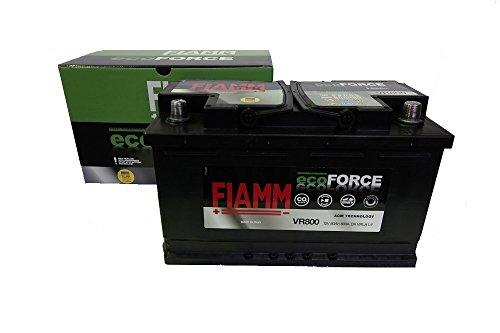 VR800 BATTERIA AUTO FIAMM ecoFORCE AGM START&STOP 80Ah 800A 12V +DX 315x175x190