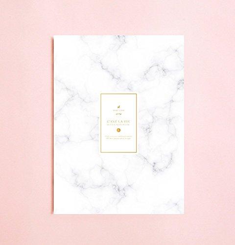 Marmorfarbige linierte Notizbuch | Romantik • Schreibtagebuch • Notizbuch für Schriftsteller-Geschenk • Tagesplaner • Großes Notizbuch • Das Notizbuch • Zurück zu Schule • Kind-Notizbuch