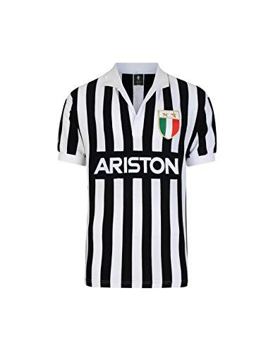 Juventus Turin Italienischer Meister 1984 Retro Trikot (L, schwarz/weiß)