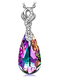 Kate Lynn Women Rhodium Plated Crystal from Swarovski Magic Crystal Ball Necklace Nickel Free Passed SGS test