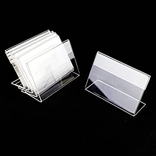 Airgoesin Small Sign Display Holder Shop Name Price Card Tag Label Stand Case 6cm x 4cm, 50pcs/pk