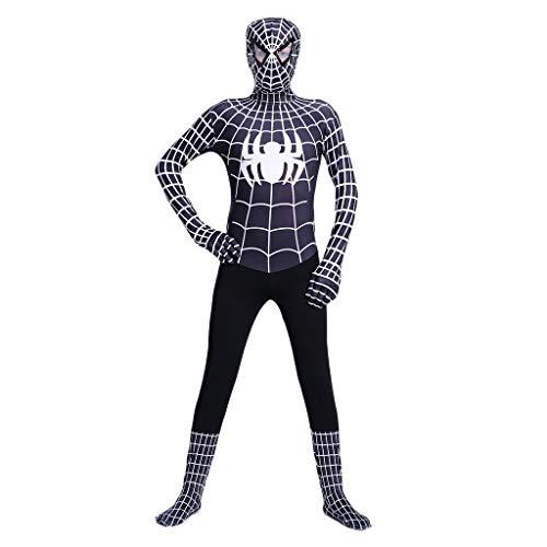 Yujingc Cosplay Erwachsene Kinder Schwarz Außergewöhnliche Spider-Man All-Inclusive-Bodysuit Kleidung Jungen Anzüge Superheld Halloween-Kostüme,Black,XXL (Für Kostüme Halloween-superheld Ideen)
