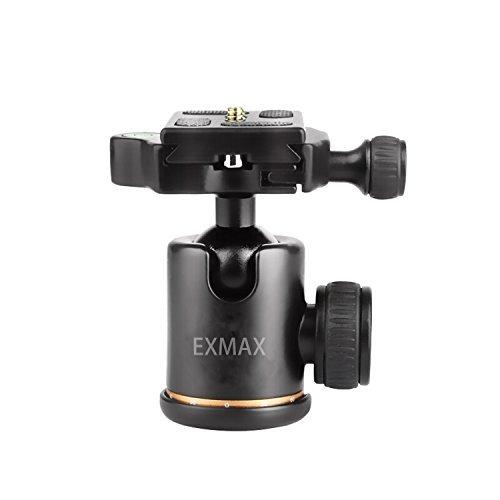 Exmax® Panorama Aluminium Legierung Metall Robust 360° drehbare Kugelkopf mit 1/10,2cm Schnelle Schuh Teller und Bubble Level, bis 22.04Pfund/10Kilogramm, für DSLR-Kamera, micro-reverse und Camcorder