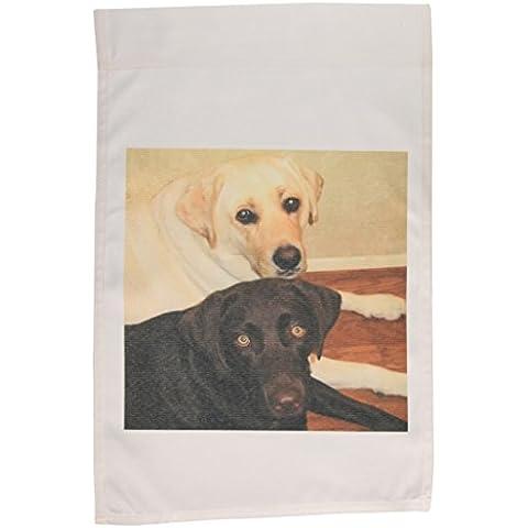 """3dRose fl_3323_1 Garden-Bandiera decorativa Labrador Retriever, 30,5 x 45,72 (18"""") cm"""