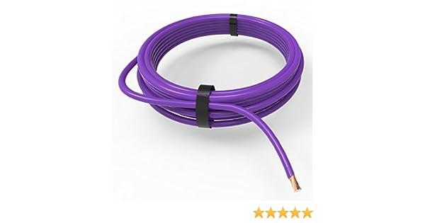 5m AUPROTEC C/âble unipolaire 1,0 mm/² FLRY-B Fil /Électrique en anneau violet