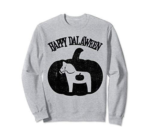 Happy Dalaween Lustige Schwedisch Dala Pferd Halloween  Sweatshirt (Mensch Pferd Kostüm)