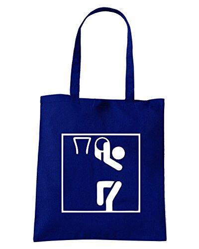 T-Shirtshock - Borsa Shopping OLDENG00307 basketball sports pictogram Blu Navy