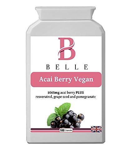 Belle® Acai Berry 1065mg Capsules amincissantes veganes Comprimés supplémentés en