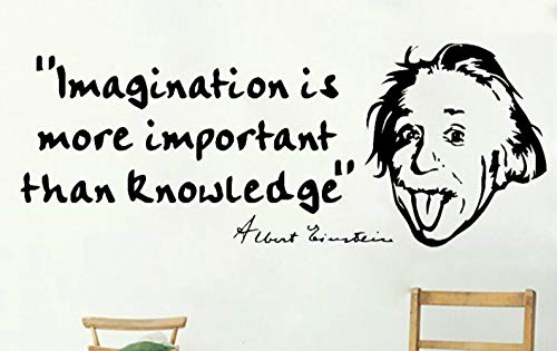 XCSJX ALBERT EINSTEIN Wand Zitat Kunst Vinyl Aufkleber Home Decor Wandbild Removable Wallpapers Inspirational Quotes Aufkleber Hot - Quotes Wand-aufkleber Inspirational