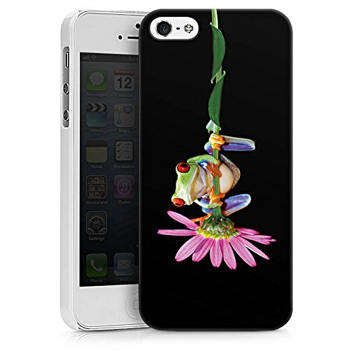 Apple iPhone X Silikon Hülle Case Schutzhülle Frosch Blume Frog Hard Case weiß