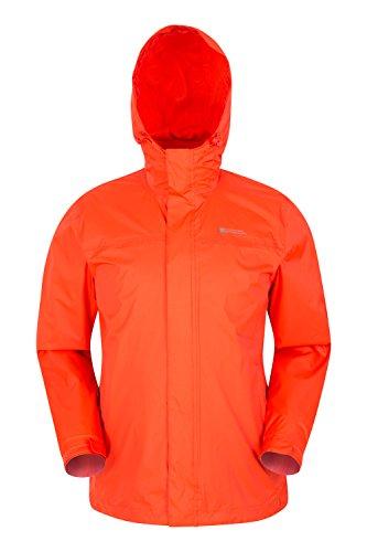 Mountain Warehouse Giacca da Uomo Torrent - Cappotto Impermeabile, Cappotto Leggero, Capospalla con Cuciture Nastrate, Giacca Casual con Due Tasche con Zip - da Viaggio Arancione M