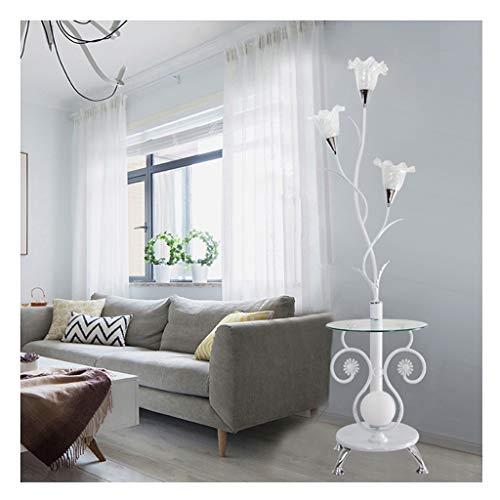 CRR ,Stehleuchte Stehlampe Moderne Chinesische Couchtischlampe LED Vertikale Schmiedeeisen Wohnzimmer Schlafzimmer,Leselampe (Farbe : B, Ausgabe : 3 watts of White Light) (Chinesische Stehlampe)